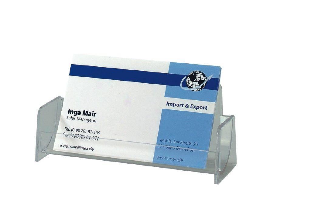 sigel Visitenkartenaufsteller für max. 50 Karten, Kartengröße bis 97 x 85 mm