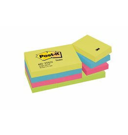 Post-it Haftnotizen Rainbow Active, 51 x 38 mm, 12x 100 Blatt