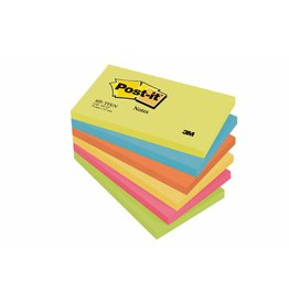 Post-it Haftnotizen Rainbow Active, 127 x 76 mm, 6x 100 Blatt
