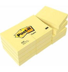 Post-it Haftnotizen gelb, 51 x 38 mm, 12x 100 Blatt