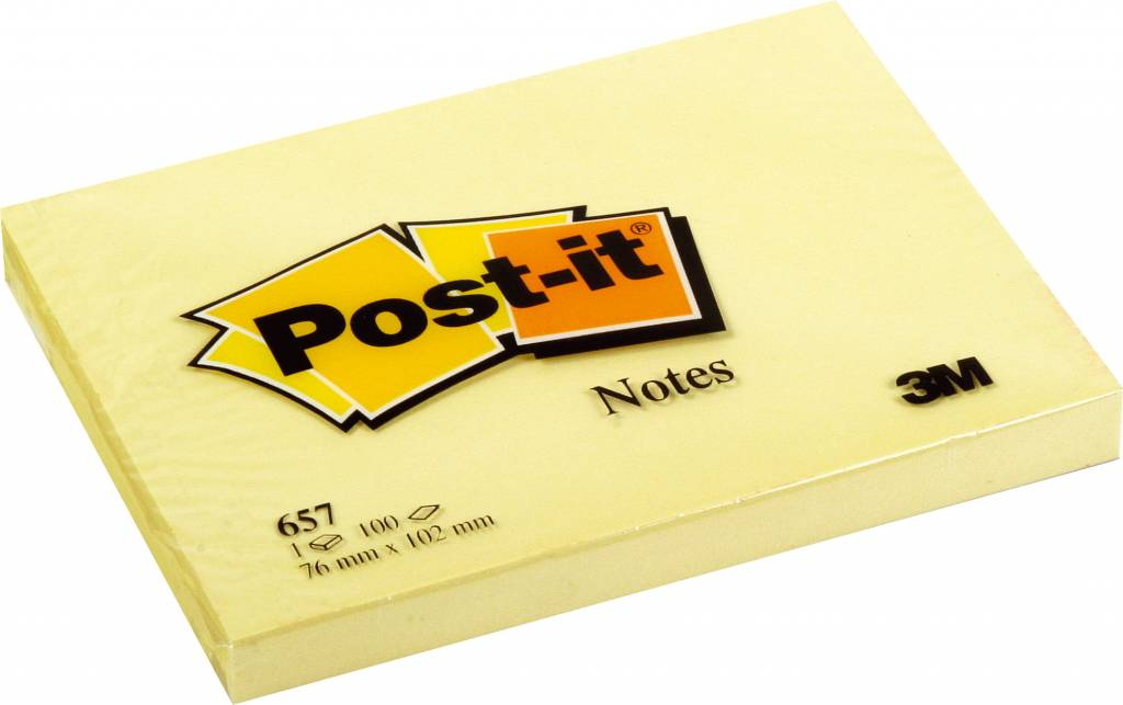 Post-it Haftnotizen gelb, 102 x 76 mm, 12x 100 Blatt