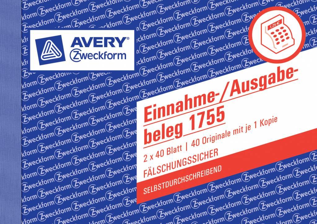 Avery Zweckform Einnahme-/Ausgabebeleg DIN A6 quer