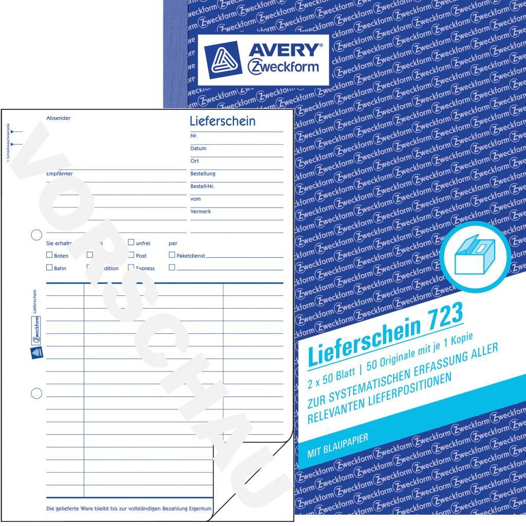 Avery Zweckform Lieferschein DIN A5