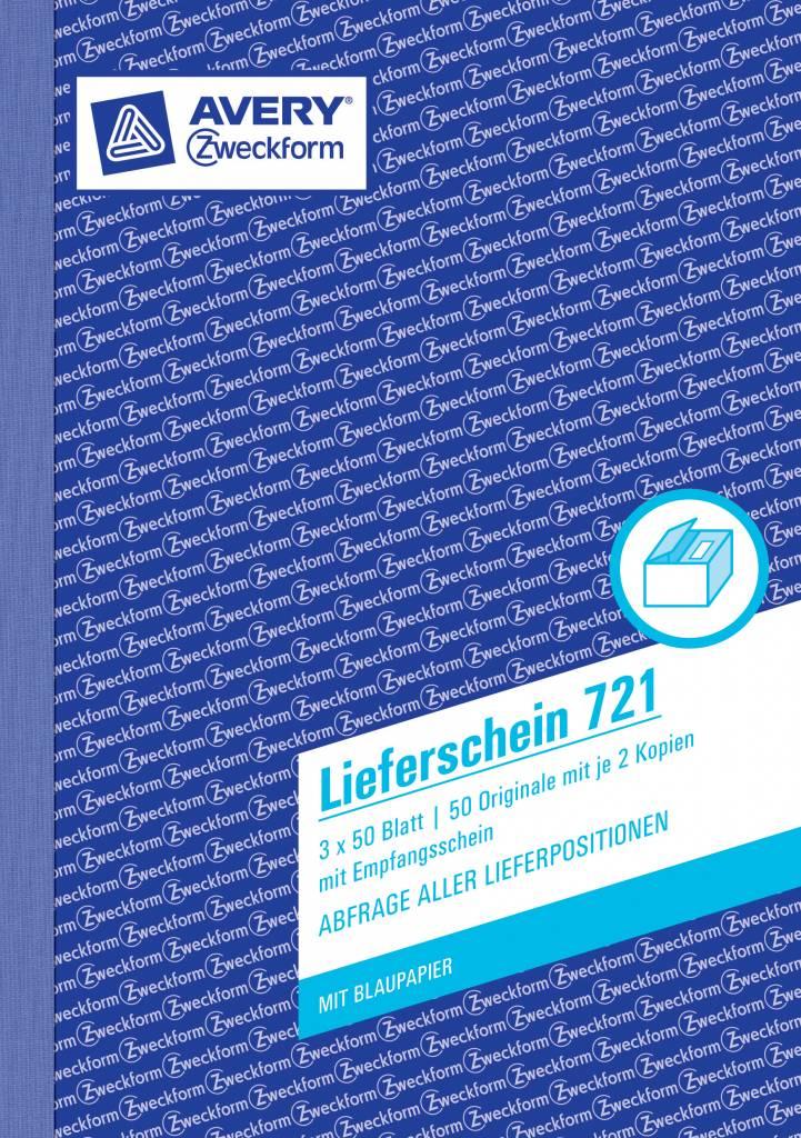 Avery Zweckform Lieferschein DIN A5 3 x 50 Blatt, 2 Durchschläge, 2 Blaupapiere, inkl. Empfangsschein