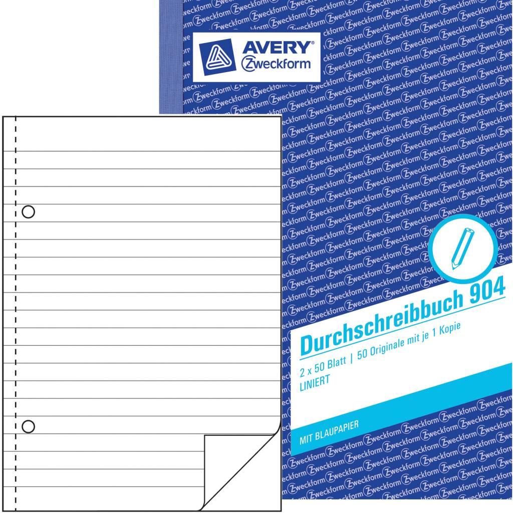 Avery Zweckform Durchschreibebuch DIN A5 liniert