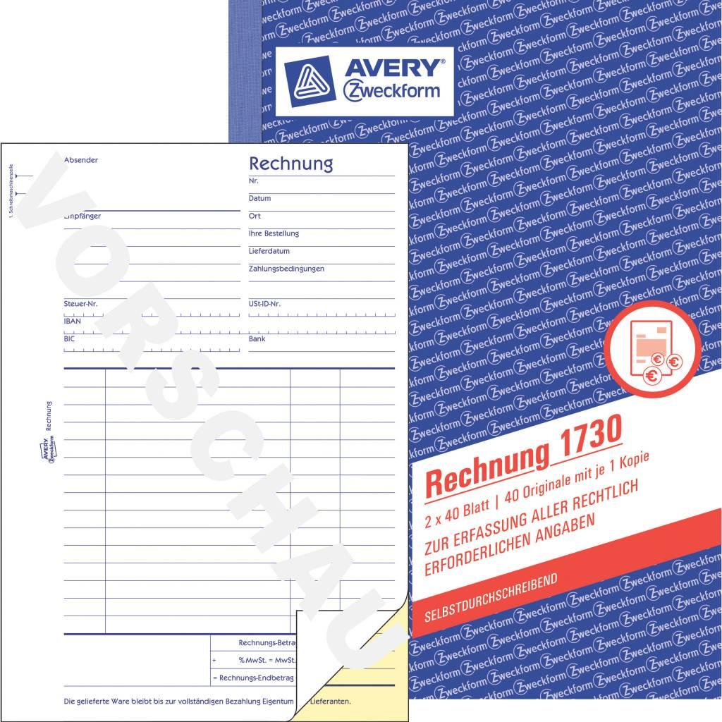 Avery Zweckform Rechnung DIN A5