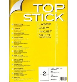 TOP STICK Etiketten 210 x 148 mm DIN A4 100 Blatt Packungen