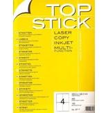TOP STICK Etiketten 105 x 148 mm DIN A4 100 Blatt Packungen