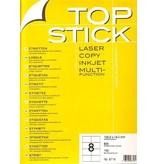 TOP STICK Etiketten 105 x 74 mm DIN A4 100 Blatt Packungen