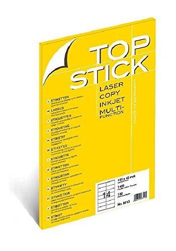 TOP STICK Etiketten 105 x 48 mm DIN A4 100 Blatt Packungen