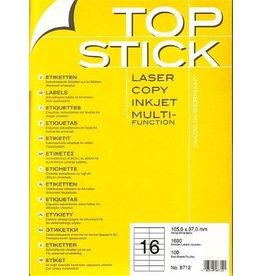 TOP STICK Etiketten 105 x 37 mm DIN A4 100 Blatt Packungen
