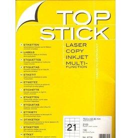 TOP STICK Etiketten 70 x 42,3 mm DIN A4 100 Blatt Packungen