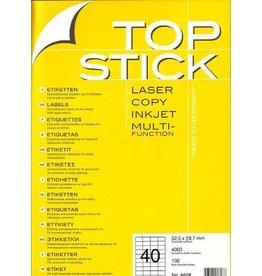 TOP STICK Etiketten 52,5 x 29,7 mm DIN A4 100 Blatt Packungen