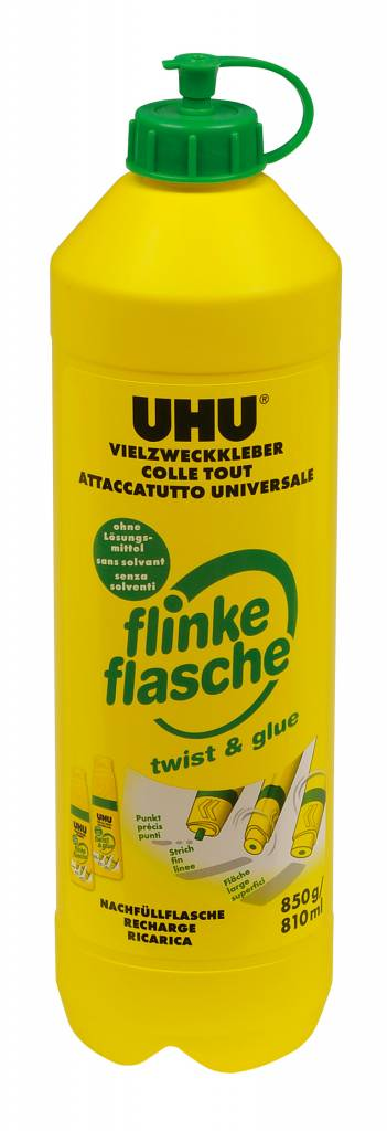UHU Nachfüllflasche flinke Flasche ReNATURE 850 g