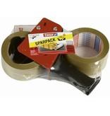 tesa Packband tesapack und Packbandabroller Sparpack 50 mm x 66 m (B x L)