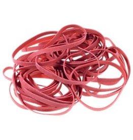 Gummibänder 50 g 150 x 4 mm Farbe: rot