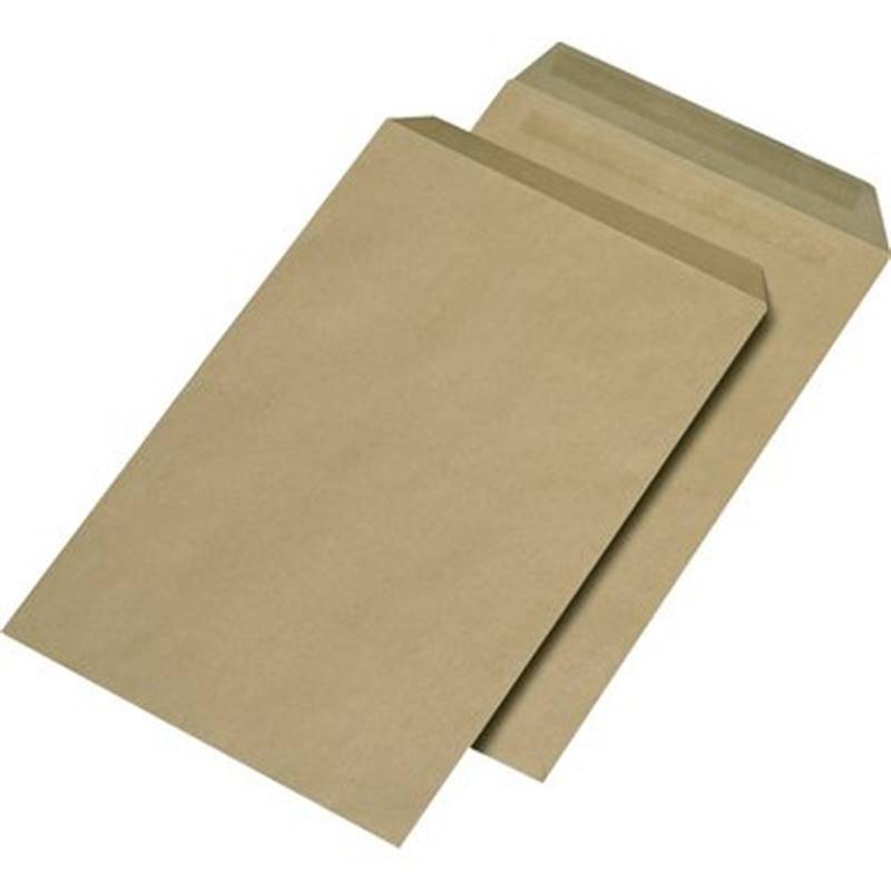 Versandtaschen DIN C4 ohne Fenster, Farbe: braun 250 St./Pack. 110 g/m²