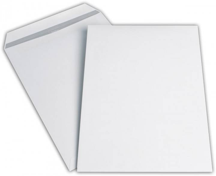 Versandtaschen DIN C4 ohne Fenster, Farbe: weiß 10 St./Pack. 90 g/m²