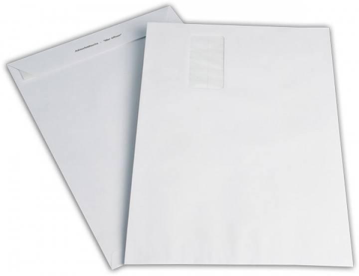 Versandtaschen DIN B4 mit Fenster, Farbe: weiß 250 St./Pack. 120 g/m²