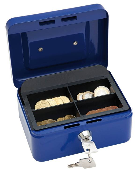 Wedo Geldkassette blau 15,2 x 8 x 11,5 cm (B x H x T)