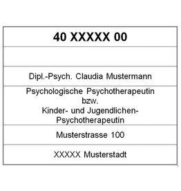 Psychotherapeuten Stempelplatte