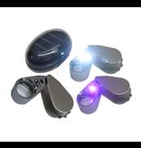 Benson Benson juweliers loupe / loep 40 x 25mm met LED verlichting kleur ZILVER