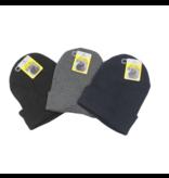 Benson Beanie muts zwart-grijs-blauw