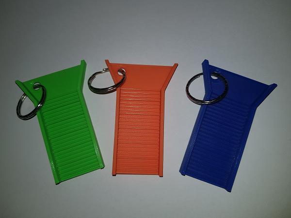 Pan4Gold Sluisbox sleutelhanger blauw - oranje - groen