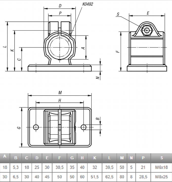 Pan4Gold Sluisbox / Highbanker voetklemstuk leg kit 4 stuks  18 of 30mm
