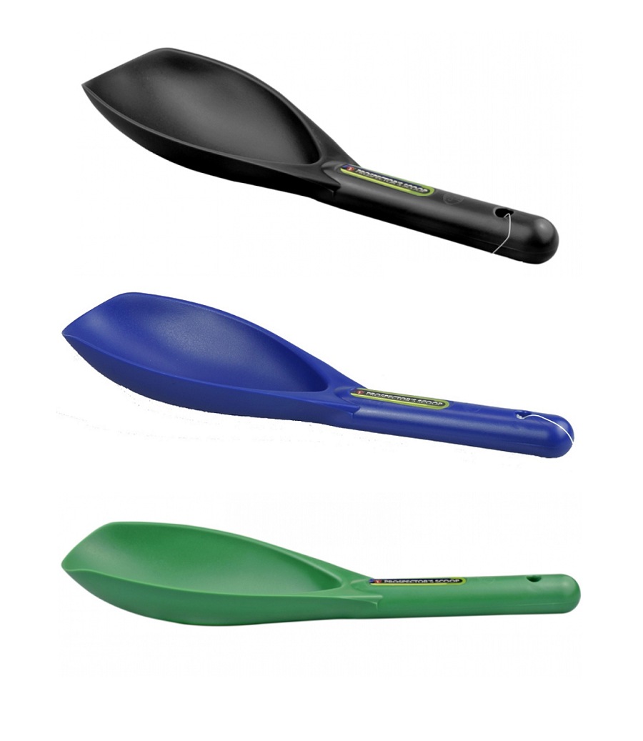 Lichte handschep, kunststof: zwart,  blauw of groen
