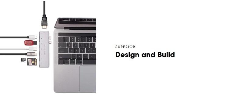 Pepper Jobs TCH-MBP7 USB-C hub-adapter MacBook Pro