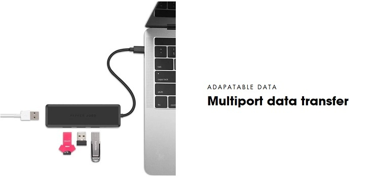 Adattatore hub USB-C TCH-U4 Pepper Jobs