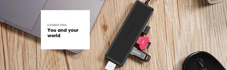 Adattatore HUB USB-C TCH-U4 di Pepper Jobs