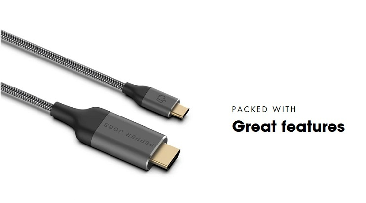 Câble HDMI Pepper Jobs C2H18M USB-C à 4K 60Hz