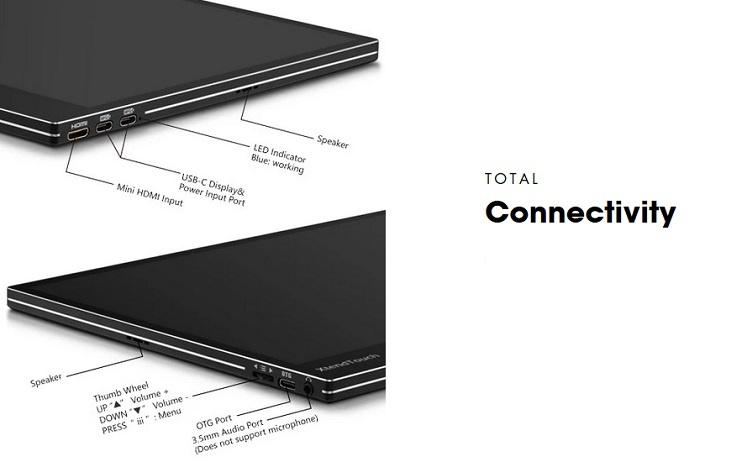 Pepper Jobs XtendTouch XT1310F est un écran portable tactile alimenté par courant continu.