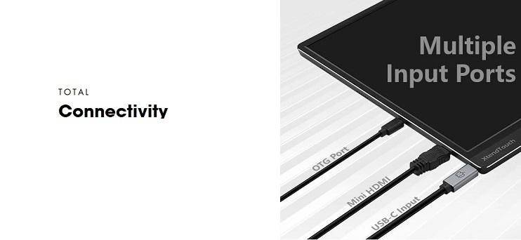 Pepper Jobs XtendTouch XT1610F ist ein tragbarer Touchscreen-Monitor mit einem eingebauten 10800mAh-Akku.