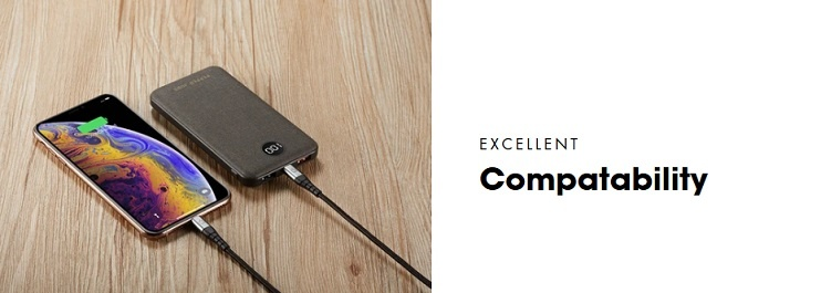 Pepper Jobs PD18W10P is the latest generation of power bank equiped with a USB-C PD input/output port.