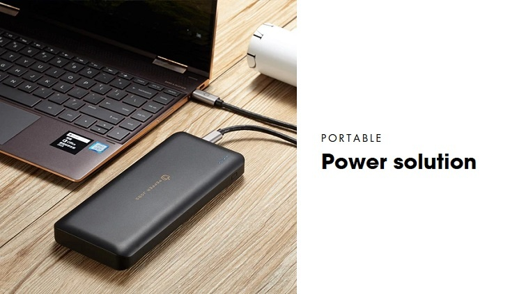 Pepper Jobs PD45W20L is the latest generation of power bank equiped with a USB-C PD input/output port.