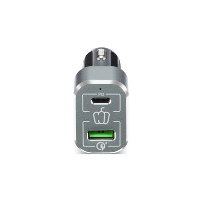 PEPPER JOBS PDQC63W is the next generation car charger Power Delivery (45W) and  QC 3.0 (18W)