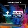 PEPPER JOBS XtendTouch XT1610F (V2) is een draagbare touchscreenmonitor met een ingebouwde 10.800mAh accu.