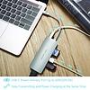 PEPPER JOBS TCH-4 est un hub USB-C 3.1 à USB 3.0 avec un port de chargement USB-C (Power Delivery), des lecteurs de cartes SD & TF et une sortie HDMI argentée.