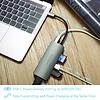 PEPPER JOBS TCH-4 is een USB-C 3.1 naar USB 3.0-hub met een USB-C PD-laadpoort, SD- & TF-kaartlezers en HDMI-output Space Grey