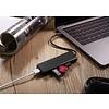PEPPER JOBS TCH-U4 is a USB-C 3.1 to USB 3.0 4-ports hub adapter.