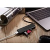 PEPPER JOBS TCH-U4 is een USB-C 3.1 naar USB 3.0 4-poorts hub-adapter.