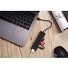PEPPER JOBS TCH-U4 di PEPPER JOBS è un adattatore hub da USB-C 3.1 a 4 porte USB 3.0.