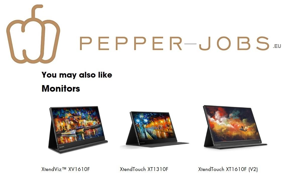 PEPPER JOBS XTendTouch, XtendViz portable monitoren.