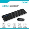 Rapoo 9300M - Wireless Keyboard and Mouse - RF + Bluetooth