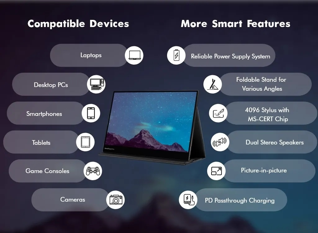 XtendTouch Pro 4K AMOLED portable ouch monitor PEPPER JOBS EUROPE