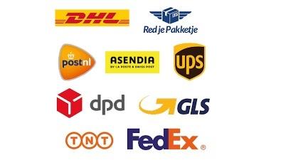 Zendingen POSTNL, DPD, UPS, GLS, DPD....