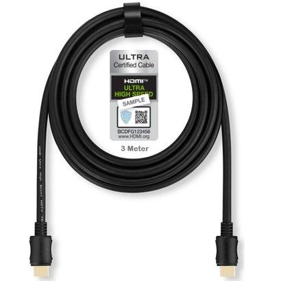 PEPPER JOBS UHS3M Cavo HDMI 2.1 3 metri (certificato HDMI ATC)